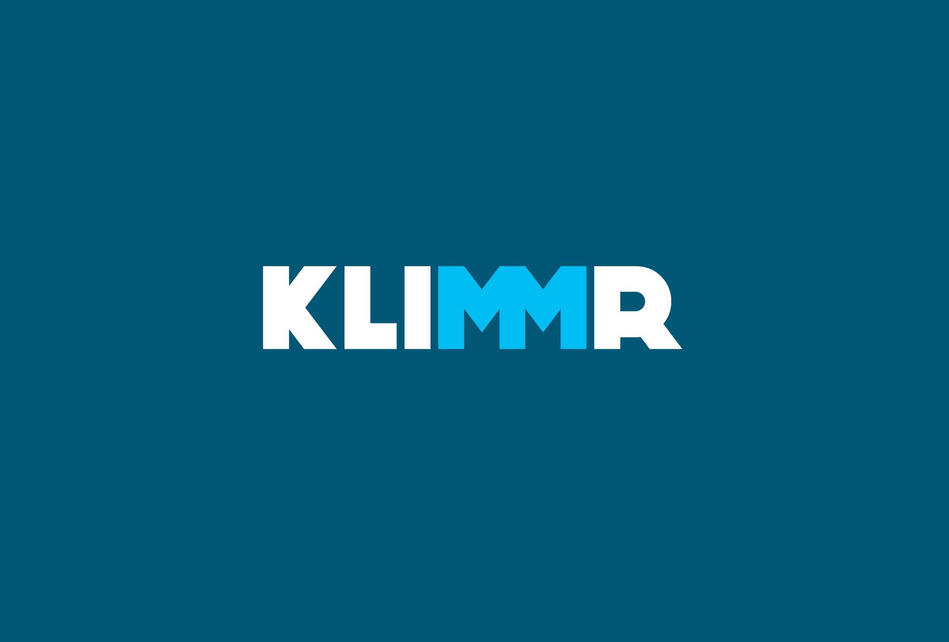 KLIMMR Huisstijl logo blauw